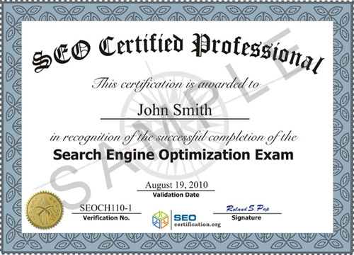 search engine optimization seo certification and training